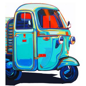 Disegno Ape Piaggio Motociclo Image Ideas